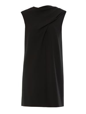 Drape-front crepe dress