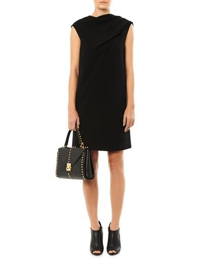 Balenciaga Drape-front crepe dress