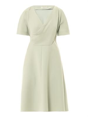 Open drape crepe dress
