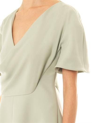 Balenciaga Open drape crepe dress