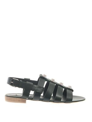 Giant gladiator leather sandals