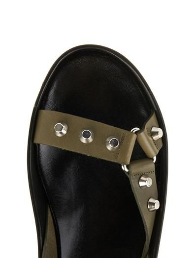 Balenciaga Arena stud leather platform sandals