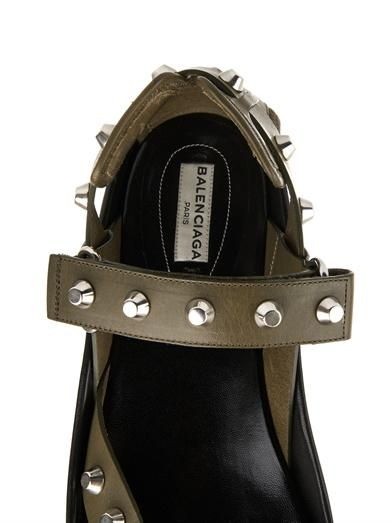 Balenciaga Arena stud leather platform sandals