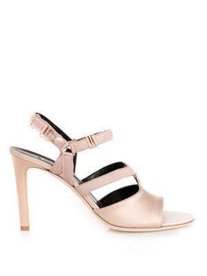 Boudoir satin sandals
