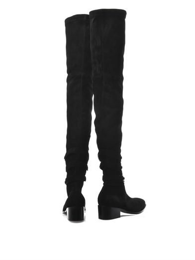 Balenciaga Chain strap suede boots