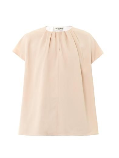 Balenciaga Crepe-sable top
