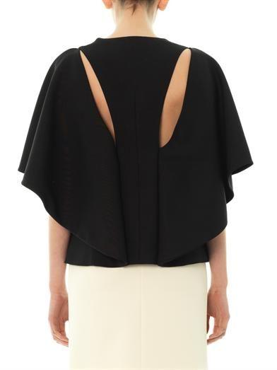 Balenciaga Cape-sleeve blouse