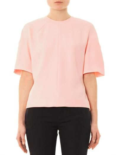 Balenciaga Crepe button back top