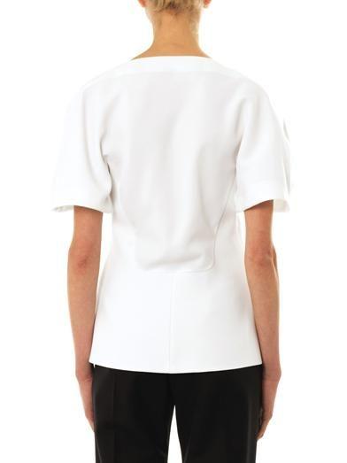 Balenciaga Open-drape crepe blouse