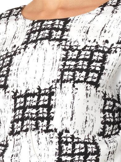 Balenciaga Scribble-check cropped blouse