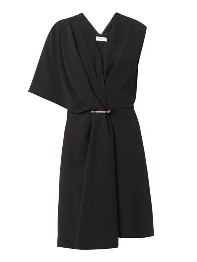 Balenciaga Draped shoulder crepe dress