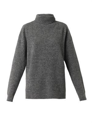 Roll-neck wool-blend sweater
