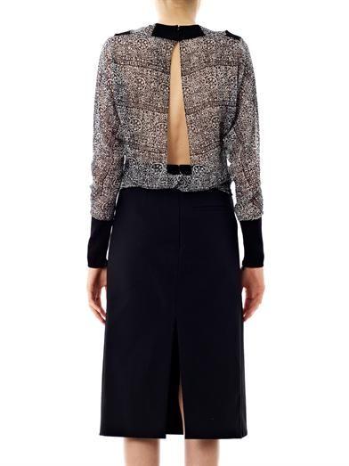Balenciaga Lace-print blouse