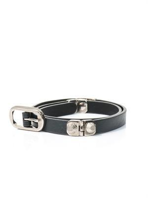Arena studded leather belt