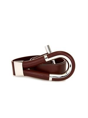 Leather toggle belt