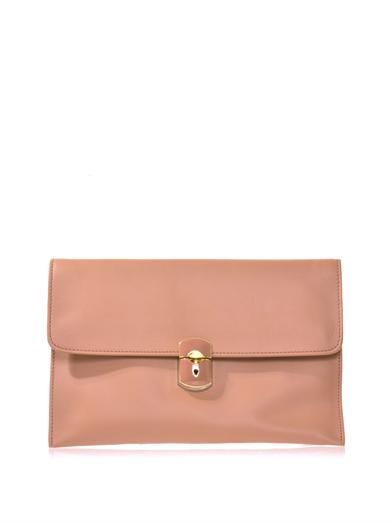 Balenciaga Padlock leather clutch