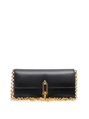 Maillon gold-chain clutch