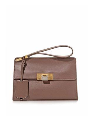 Le Dix pochette leather clutch