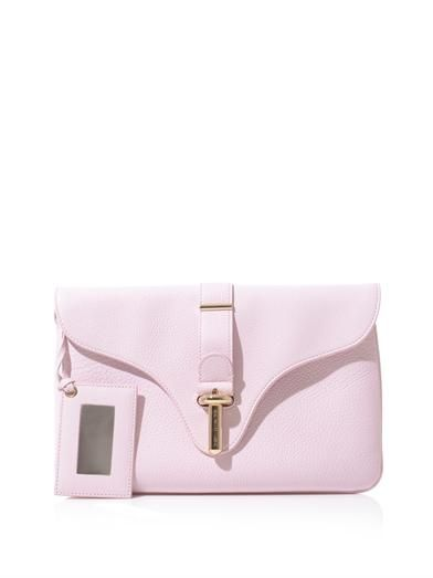 Balenciaga The Tube Pochette leather clutch
