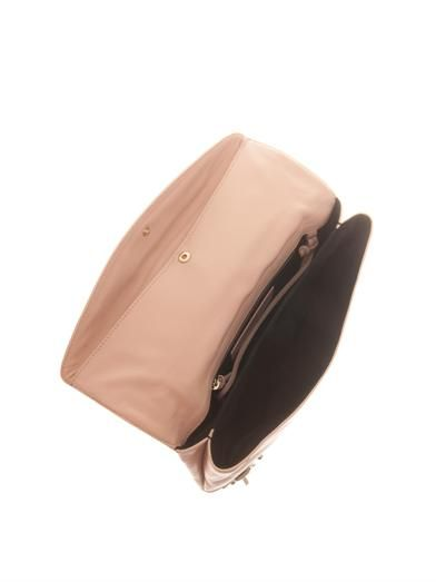 Balenciaga Classic edge-line leather envelope clutch