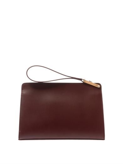 Balenciaga Le Dix pochette leather clutch