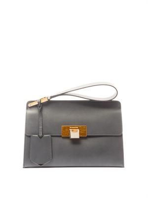 Le Dix pochette leather clutch