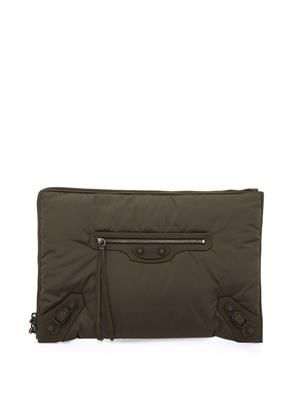 Classic City nylon clutch