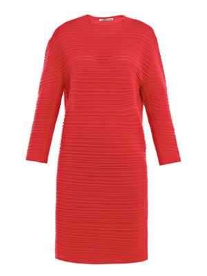 Ribbed tunic dress