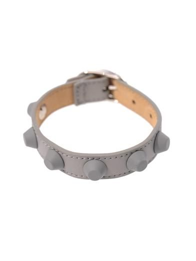 Balenciaga Rubber studded leather bracelet
