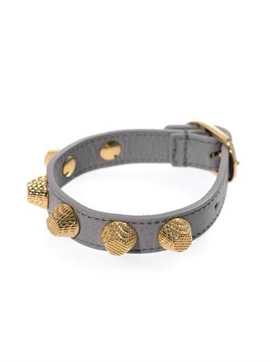 Balenciaga Arena studded leather bracelet