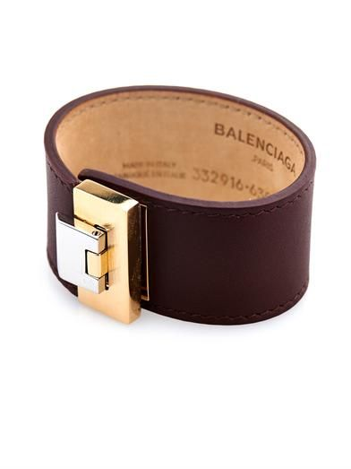 Balenciaga Le Dix leather bracelet