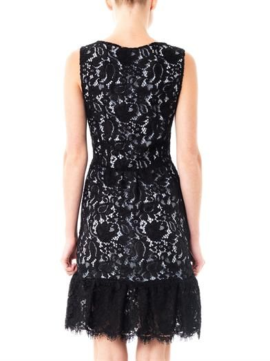 Balenciaga Lace contrast-underlay dress