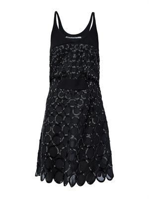 Circle bead-embellished dress