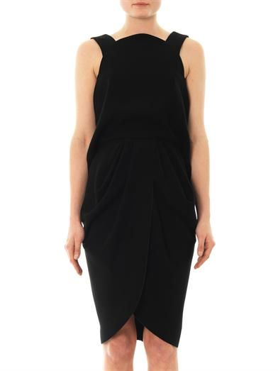 Balenciaga Open-back crepe dress