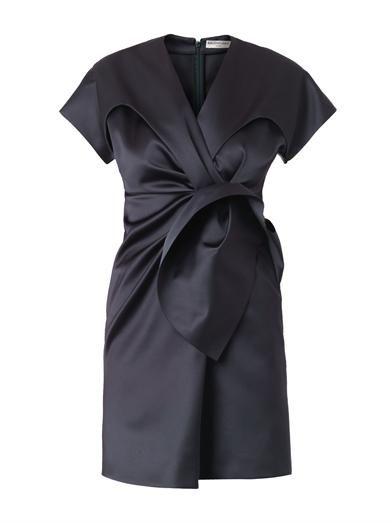 Balenciaga Duchess-satin gathered-front dress