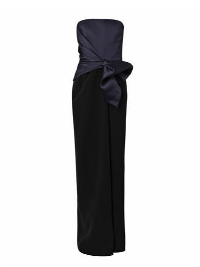 Balenciaga Bi-colour satin and crepe gown