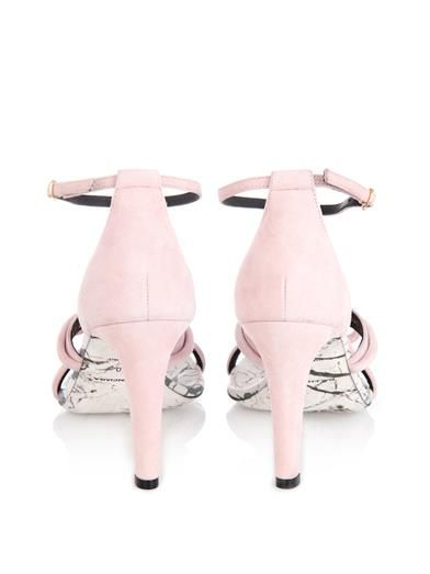 Balenciaga Bow detail suede sandals