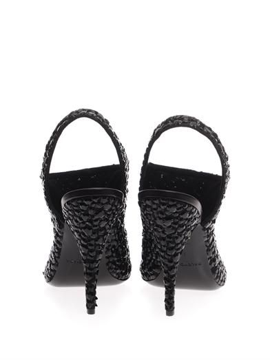 Balenciaga Sparkle broderie slingback sandals