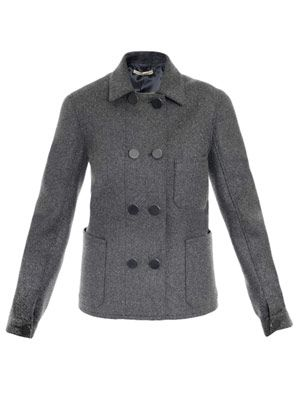 Chemney felted wool peacoat