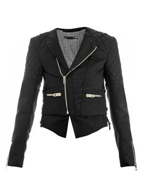 Bonded-cotton biker jacket