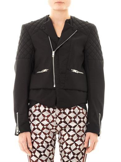 Balenciaga Bonded-cotton biker jacket
