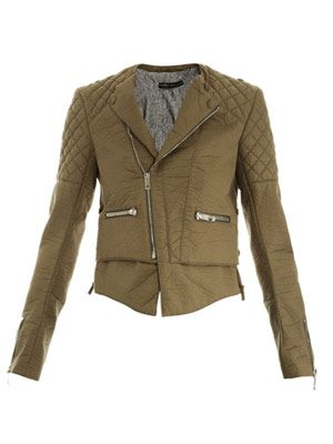 Bonded cotton biker jacket