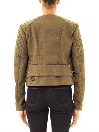 Balenciaga Bonded cotton biker jacket
