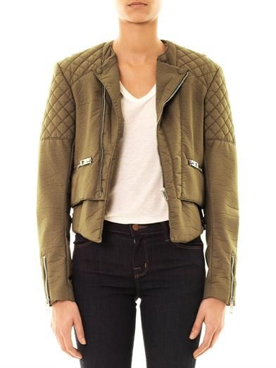 Balenciaga Bonded cotton biker jacket
