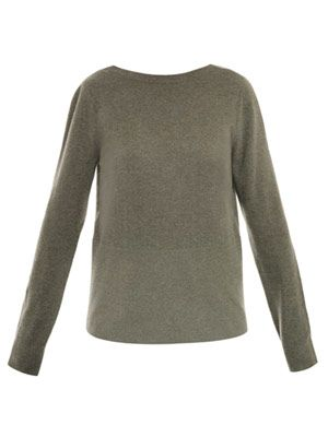 V back cashmere sweater