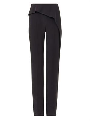 Classic wave crepe trousers