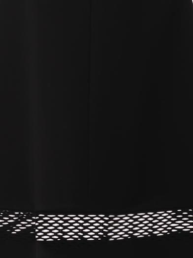 Balenciaga Crepe mesh-panel midi skirt