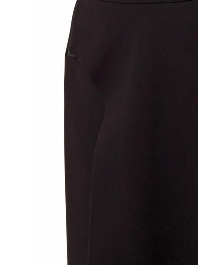 Balenciaga Asymmetric-panel crepe midi skirt
