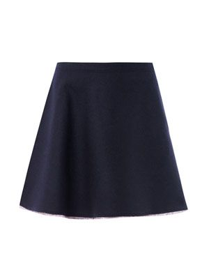 A-line mini wool skirt