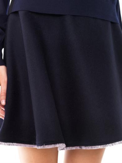 Balenciaga A-line mini wool skirt